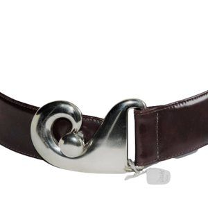 Karen Palmer Belt Bordeaux Leather XS New With Tag